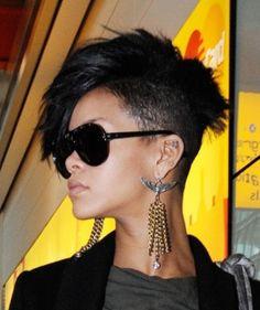 Rihanna Faux hawk hairstyle