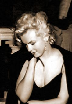 "Marilyn Monroe at a press conference for ""The Prince and The Showgirl"" in New York, February 9th 1956"