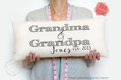 grandparent gift, grandma gift, grandpa, grandparent pillow, gifts for grandparents, grandparent gifts, grandma and grandpa, christmas by LoveYouMoreBoutique on Etsy