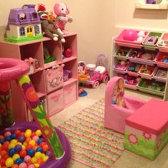 Quick, easy, and inexpensive playroom for a toddler.