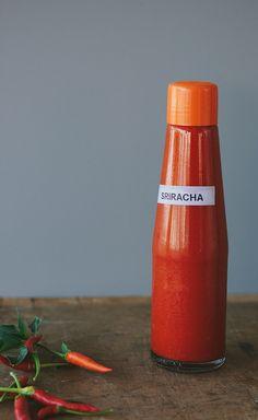 homemade sriracha (raw + fermented) — chillies, garlic, sugar, salt, cider vinegar via My Darling Lemon Thyme