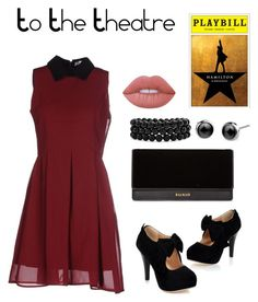 """""""To The Theatre"""" by catyisamazing11 on Polyvore featuring Anonyme Designers, Balmain, Bling Jewelry and Lime Crime"""