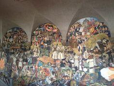 Mural de Diego Rivera, palacio nacional, México.