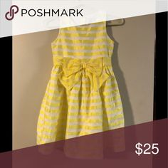 Girl's Dress She'll lining bow in front  Circle tail Gymboree Dresses Formal