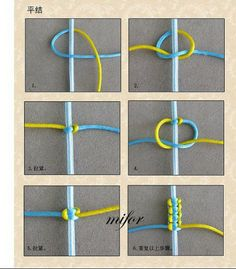 A nice picture tutorial Square Knot Bracelets, Bracelet Knots, Armband, Embroidery Thread, Charger, Create, Headphones, Buttons, Projects