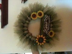 Fall Tull wreath