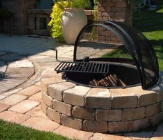 DIY firepit...we have spark screens, fire ring lids, fire ring seat wall caps, and other accessories to make your backyard dreams come true!