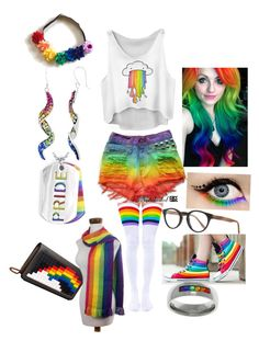 """""""Pride"""" by xxrandomroleplayerxx ❤ liked on Polyvore featuring West Coast Jewelry, Leg Avenue, Illesteva, Carolina Glamour Collection, Les Petits Joueurs, NOVICA, pride and lovewins"""
