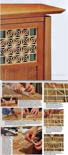 Japanese Lattice - Finishing Tips and Techniques | WoodArchivist.com
