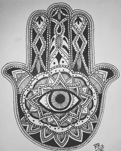 #sketchdesign #hamsahand #mandala #art