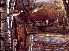 Terry Redlin 006 - Riverside Pond