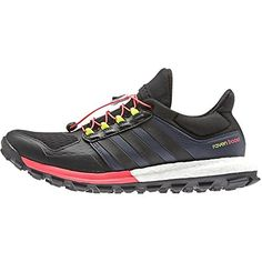 3868a9553b00f4 Adidas Outdoor 2015 Womens AdiStar Raven Boost Trail Running Shoes B25108  BlackBlackFlash Red 7 --