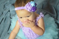 """Newborn Lilac and Winterfresh Blue Romper, Tutu, and Headband Combo by MolinasBebe on Etsy ***Free shipping in the USA*** Tutus are customizable 0-3 months 12""""waist 6.5 length 3-6 months 14"""" waist 7.5 length 6-12 months 16"""" waist 8.5 length 12-24 months 18"""" waist 9.5 length or a longer 10 length"""