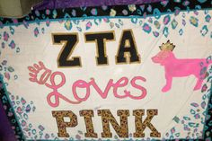 """Everyone go to the Facebook page """"VS pink loves Rutgers"""" and """"Like"""" the photo of the banner made by ZTA! If Zeta Tau Alpha gets the most likes on their photo, they will receive a bunch of free stuff from the VS Pink collection! ZLAM"""