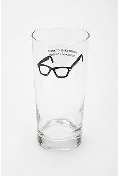 May be something only an optician would love, but I am an optician. Urban Outfitters Seeing and Drinking Glass.