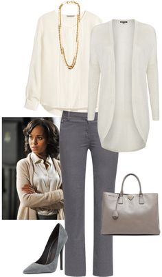 Take a look at 35 grey pants outfits for work you can copy in the photos below and get ideas for your own outfits! Women's Business Casual Fashion… This would be perfect for game day if the blazer was purple! Olivia Pope Outfits, Olivia Pope Style, Business Outfits, Business Attire, Business Fashion, Business Casual, Business Formal, Office Fashion, Work Fashion