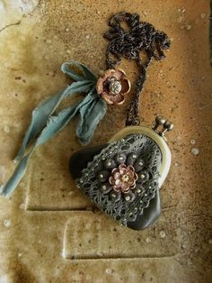 mini purse necklace  koke by kikosattic on Etsy, $49.00