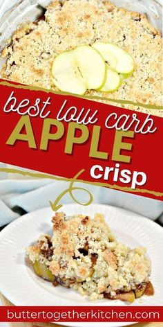 Butter Together Kitchen shares a delicious recipe for low carb apple crisp! This keto dessert is perfect for fall! Eat a piece of this apple crisp with some keto ice cream for a yummy treat! Kids and adults love this mouth-watering recipe! Kinds Of Desserts, Sugar Free Desserts, Homemade Desserts, Low Carb Apple Crisp Recipe, Apple Crisp Recipes, Yummy Treats, Delicious Desserts, Dessert Recipes, Yummy Food