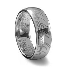 He just might kill me... or he just might love it. Tungsten carbide wedding band of THE ONE RING TO RULE THEM ALL. Eff yes.