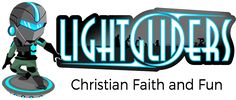 Lightgliders Logo - Lightgliders is a video game for kids designed to promote a biblical world view and Christian faith and values. Help make Bible verses fun to learn, teach children life lessons using Jesus Christ as an example, and encourage positive and meaningful conversations full of hope and love at the dinner table. Fresh, new content added each week to encourage Sunday School moments, supporting the goals of you and your church family.