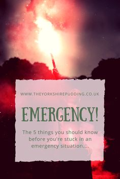 Eliminate Worry 5 Things you Should Know in an Emergency. We live in a time of uncertainty. Whether it be idealised people with violent tendencies, the increased risk of accidental situations or mother nature herself; unknown risk is something that each o