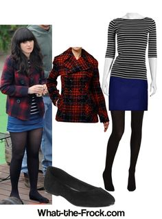 - Affordable Fashion Tips and Trends: Zooey Deschanel New Girl Style, My Style, Girl Fashion, Fashion Outfits, Womens Fashion, Fashion Tips, Skirt Outfits, Cute Outfits, Unique Fashion