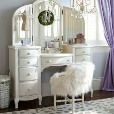 I need this in my boudoir! Lilac Vanity