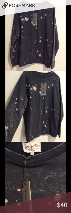 NWT Just Junkies Sweatshirt NWT sweatshirt with print, refer to pics. Not yeezy, only tagged for exposure. Yeezy Shirts Sweatshirts & Hoodies