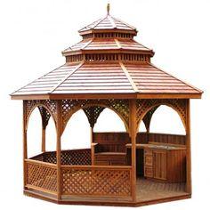 Holzpavillon aus Teakholz  www.tp-moebel.de