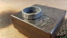 Making a black Lunar wedding ring. Rustic Wedding Bands, Wedding Rings, Rings For Men, How To Make, Black, Jewelry, Men Rings, Jewlery, Black People