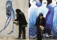 Primeiras grafiteiras afegãs usam arte para apagar as marcas da guerra