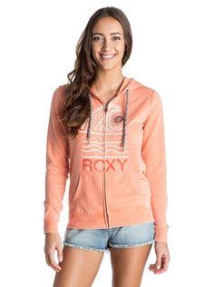 roxy, Tropical Bazaar Zip Hoodie, Melon - Solid (nhz0)