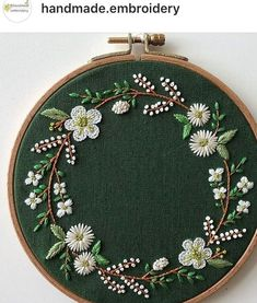 Marvelous Crewel Embroidery Long Short Soft Shading In Colors Ideas. Enchanting Crewel Embroidery Long Short Soft Shading In Colors Ideas. Embroidery Flowers Pattern, Couture Embroidery, Simple Embroidery, Hand Embroidery Stitches, Modern Embroidery, Crewel Embroidery, Embroidery Hoop Art, Hand Embroidery Designs, Ribbon Embroidery
