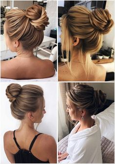 Stunning Wedding Hairstyles from - Forevermorebling Wedding Bun Hairstyles, Modern Hairstyles, Wedding Updo, Latest Hairstyles, Wedding Blog, Style Hairstyle, Hairstyle Ideas, Hair Ideas, Wedding Ideas