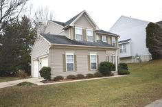 """FOR SALE: $399,900 Charming 4 bedroom 2.5 bath Colonial w open floor plan. *2 story foyer* 2 story living room* kitchen w center island* fireplace* vaulted ceilings in MBR* MBA w dual vanities sep tub & sep shower* front porch* 2 car garage* unfinished basement waiting for your personal touches. Ideally located near shops, restaurants, I-270, 355, public transportation* Sold strictly """"as-is"""""""