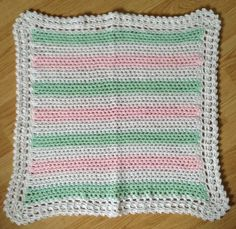 Pastel striped baby blanket $25.   To order or see more items please visit www.facebook.com/...