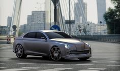 "new concept of classic ""warszawa"" car"