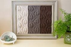 Items similar to Ombre Vines knitted wool yarn wall art knitting framed home decor Vintage Wood Frame Wall Hanging painted with Annie Sloan Chalk Paint on Etsy Knit Art, Wool Art, Hanging Fabric, Hanging Art, Crochet Humor, Funny Crochet, Knitting Squares, Yarn Wall Art, Annie Sloan Chalk Paint