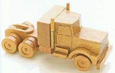 DIY Wooden Semi Truck woodworking plan! Learn how to make this great toy from this simple step-by-step tutorial! Hand crafted toys are the best because they're made with love!