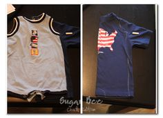 """Every year my mom buys the whole family those infamous """"flag shirts"""". Seriously, every year. I've been married 9 years – here's 8 pictures (the one from our first year isn't digital – shows how old I go back), all in flag shirts except one year (the year I got my embroidery machine and wanted...Read More »"""