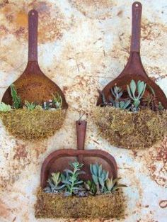 A novel idea. :) had some old frying pans and wow!