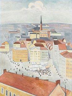 979. Einar Jolin, Kornhamnstorg - Stockholm från Söder