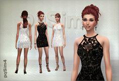 Sims4. Crochet dress. - PqSim4