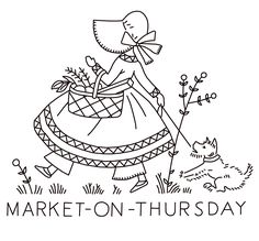Embroidery Pattern from kaumagraph-120-market-on-thursday.http://qisforquilter.com/.      jwt