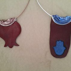Leather Eco Chic necklaces...variety of shapes and colors, perfect for any age!