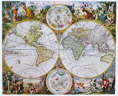 Mapas antiguos para imprimir o curiosear (+60) Más
