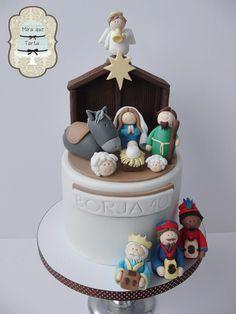 Nativity cake. Tarta portal de Belen. #miraquetarta
