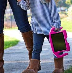 Dar um iPad aos seu filhos se uma capa apropriada pode não ser boa ideia. Esta aqui é à prova de choque. Preço: £12,99 (www.amazon.co.uk MOCREO/Amazon)