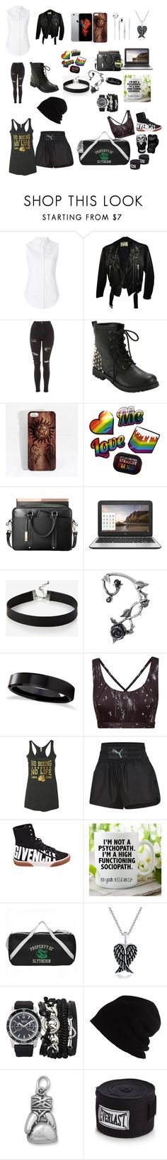 """""""My style"""" by xxshadownorthfacexx on Polyvore featuring Thom Browne, Acne Studios, Topshop, Hot Topic, HP, Express, Allurez, Sweaty Betty, Givenchy and Bling Jewelry"""