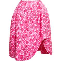 SIMONE ROCHA A-line Floral Cloque Skirt ($1,135) ❤ liked on Polyvore featuring skirts, bottoms, floral printed skirt, floral print a-line skirt, floral skirt, simone rocha and knee length a line skirt